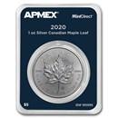 2020 Canada 1 oz Silver Maple Leaf (MintDirect® Single)