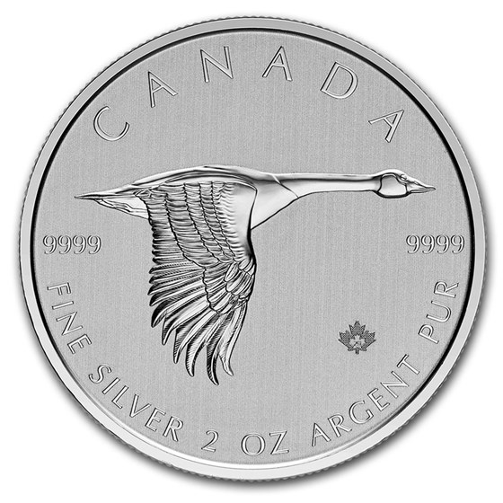 2020 Canada 2 oz $10 Silver Canadian Goose