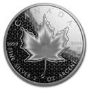 2020 Canada 2 oz Silver $10 Pulsating Maple Leaf