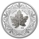2020 Canada 2 oz Silver $30 Canadian Maple Leaf Brooch Legacy