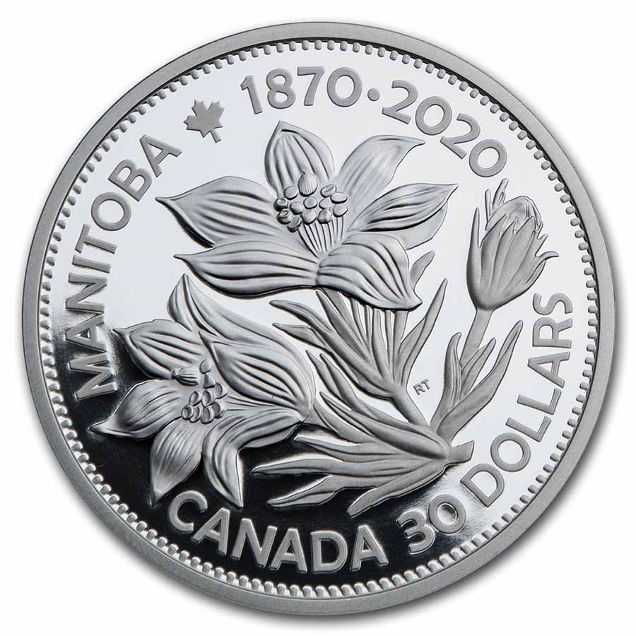 2020 Canada 2 oz Silver $30 Manitoba 150: United in Celebration