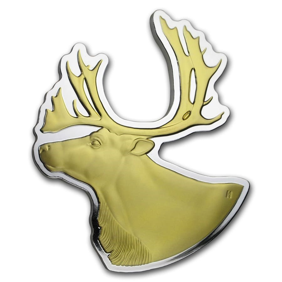 2020 Canada 3 oz Silver $50 Real Shapes: The Caribou