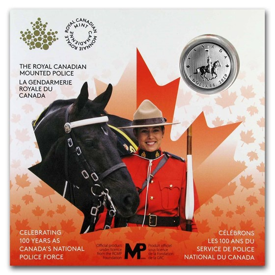 2020 Canada $5 Silver Moments to Hold: 100th Anniv of the RCMP