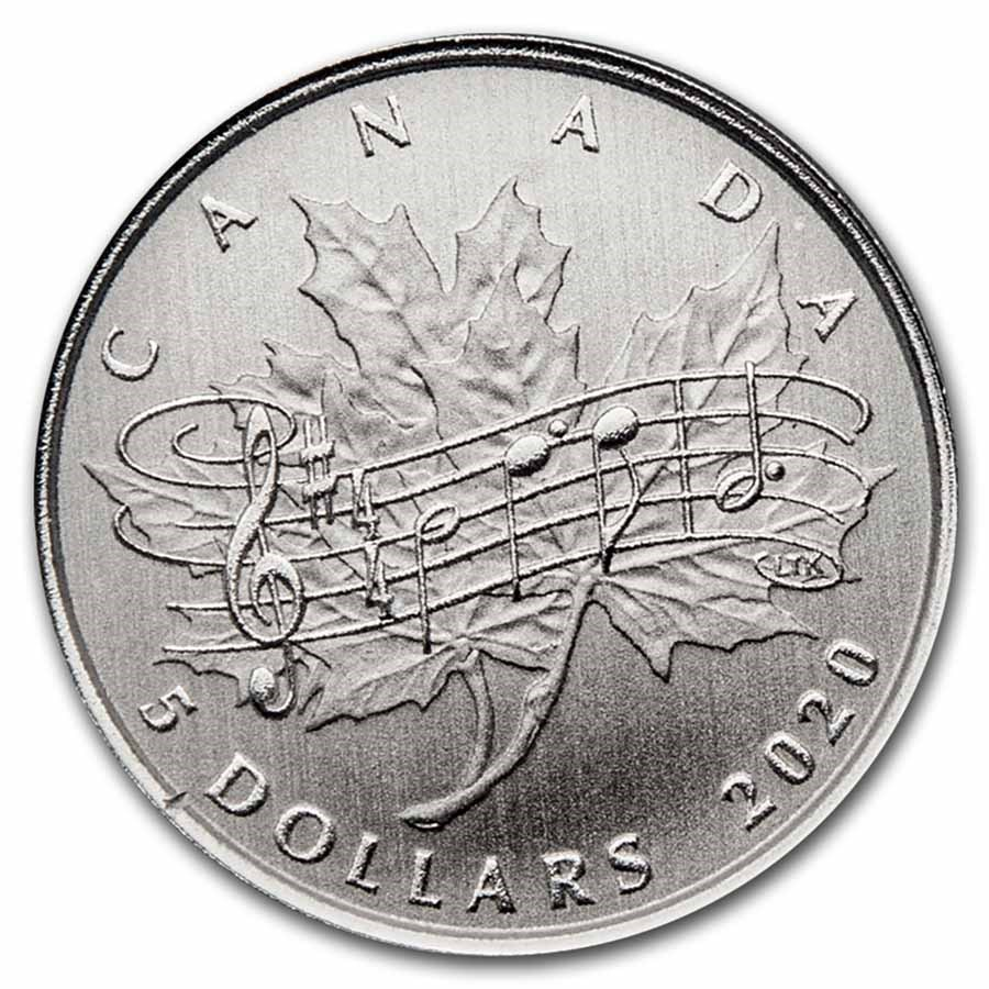 2020 Canada $5 Silver Moments to Hold: National Anthem Act