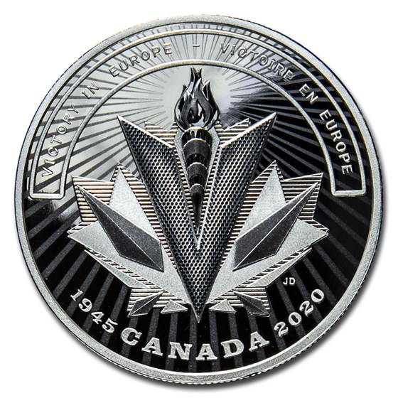 2020 Canada Ag $20 WWII Battlefront Series Victory in Europe