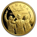 2020 Canada Gold $100 75th Anniv of V-E Day: Air Force