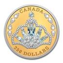 2020 Canada Gold $250 Elizabeth II's Brazilian Aquamarine Tiara