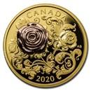2020 Canada Proof Gold $200 The Queen Elizabeth Rose