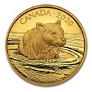 2020 Canada Proof Gold $350 Wildlife Portraits: The Grizzly Bear