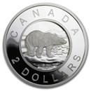 2020 Canada Silver $2 Multilayered Polar Bear