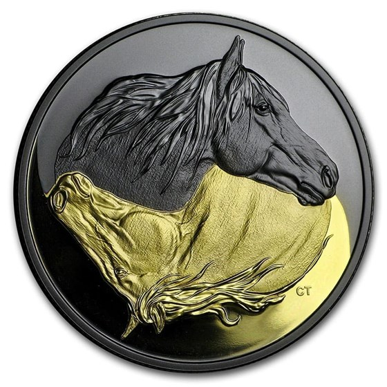 2020 Canada Silver $20 Black and Gold: The Canadian Horse