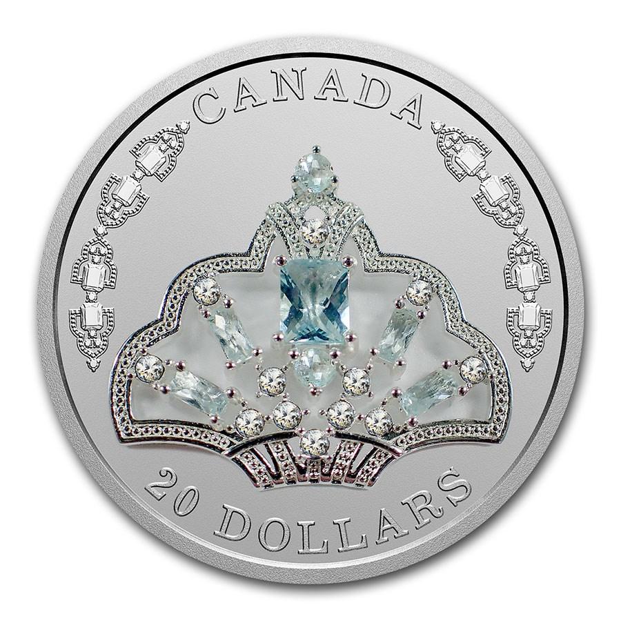 2020 Canada Silver $20 Elizabeth II's Brazilian Aquamarine Tiara