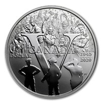 2020 Canada Silver Dollar 75th Anniv of V-E Day Proof