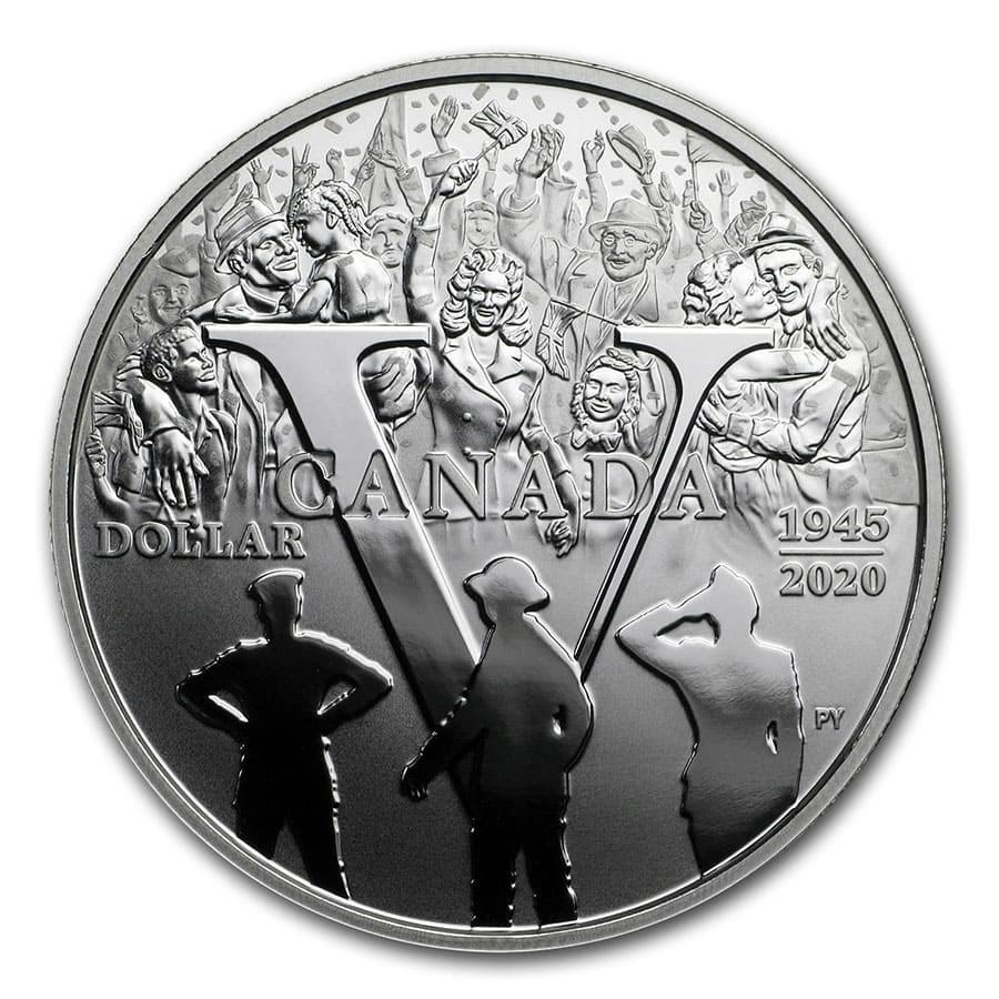 2020 Canada Silver Dollar 75th Anniv of V-E Day Proof