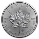 2020 Canadian 1 oz Silver Maple Leaf Coin BU