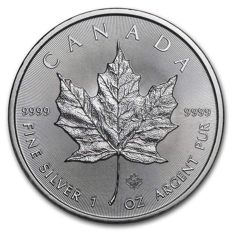2020 Canadian 1 oz Silver Maple Leaf Coin BU