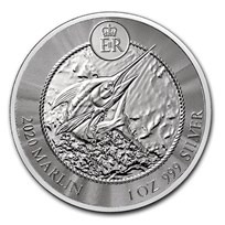 2020 Cayman Islands 1 oz Silver Marlin BU