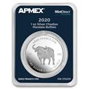 2020 Chad 1 oz Silver Mandala Buffalo (MD Premier® Single)