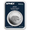 2020 Chad 1 oz Silver Mandala Hippo (MD Premier® Single)