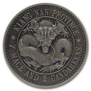 2020 China 1 oz Antique Silver Kiangnan Dragon Dollar Restrike