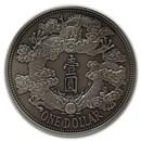 2020 China 1 oz Antique Silver Tientsin Dragon Dollar Restrike