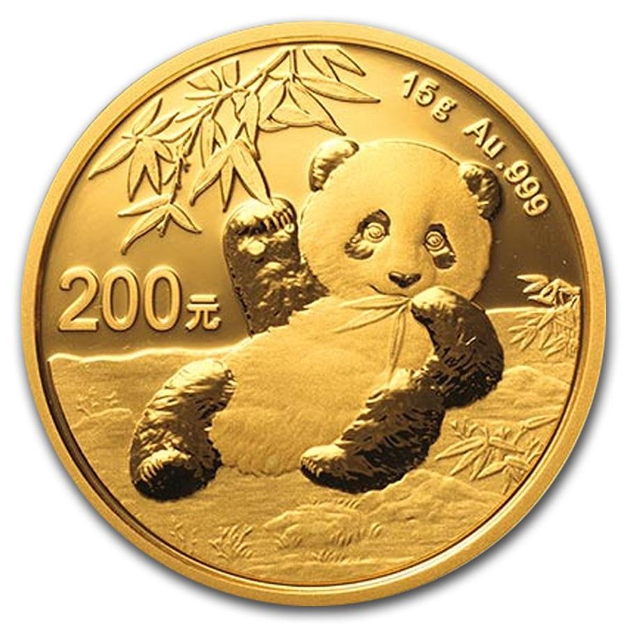2020 China 15 gram Gold Panda BU (Sealed)