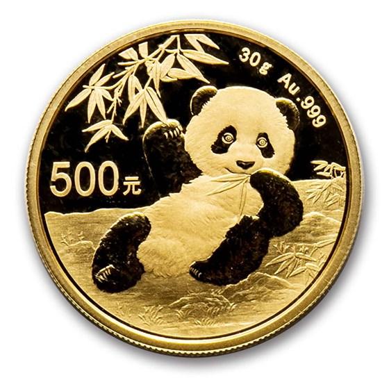 2020 China 30 gram Gold Panda BU (Sealed)