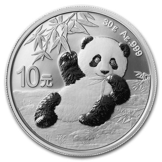 2020 China 30 gram Silver Panda BU (In Capsule)