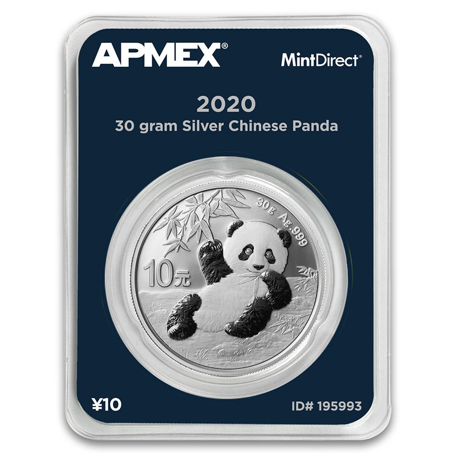 2020 China 30 gram Silver Panda (MintDirect® Single)
