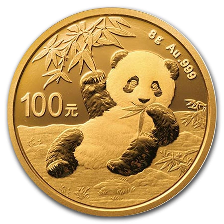 2020 China 8 gram Gold Panda BU (Sealed)