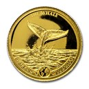 2020 Congo 1/2 gram Gold Proof World's Wildlife (Whale)