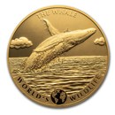2020 Congo 5 oz Gold Proof World's Wildlife (Whale)
