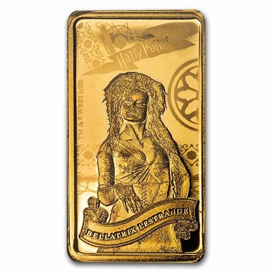 2020 Cook Islands 1/2 Gram Gold Harry Potter Ingot (Bellatrix)