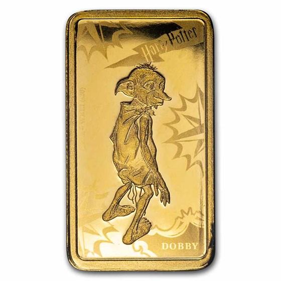 2020 Cook Islands 1/2 Gram Gold Harry Potter Ingot (Dobby)