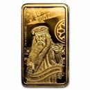 2020 Cook Islands 1/2 Gram Gold Harry Potter Ingot (Dumbledore)