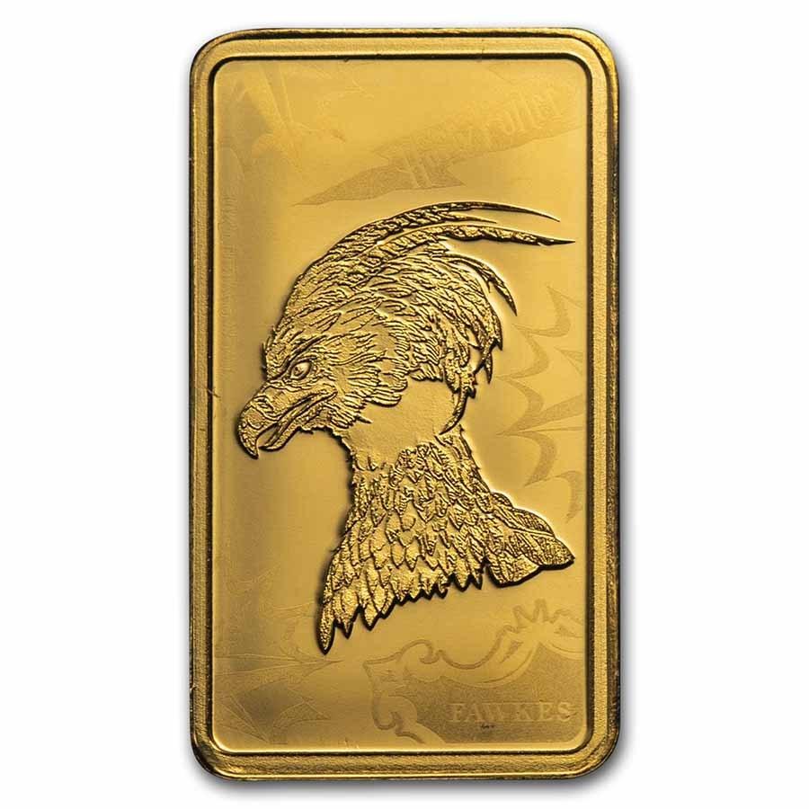 2020 Cook Islands 1/2 Gram Gold Harry Potter Ingot (Fawkes)