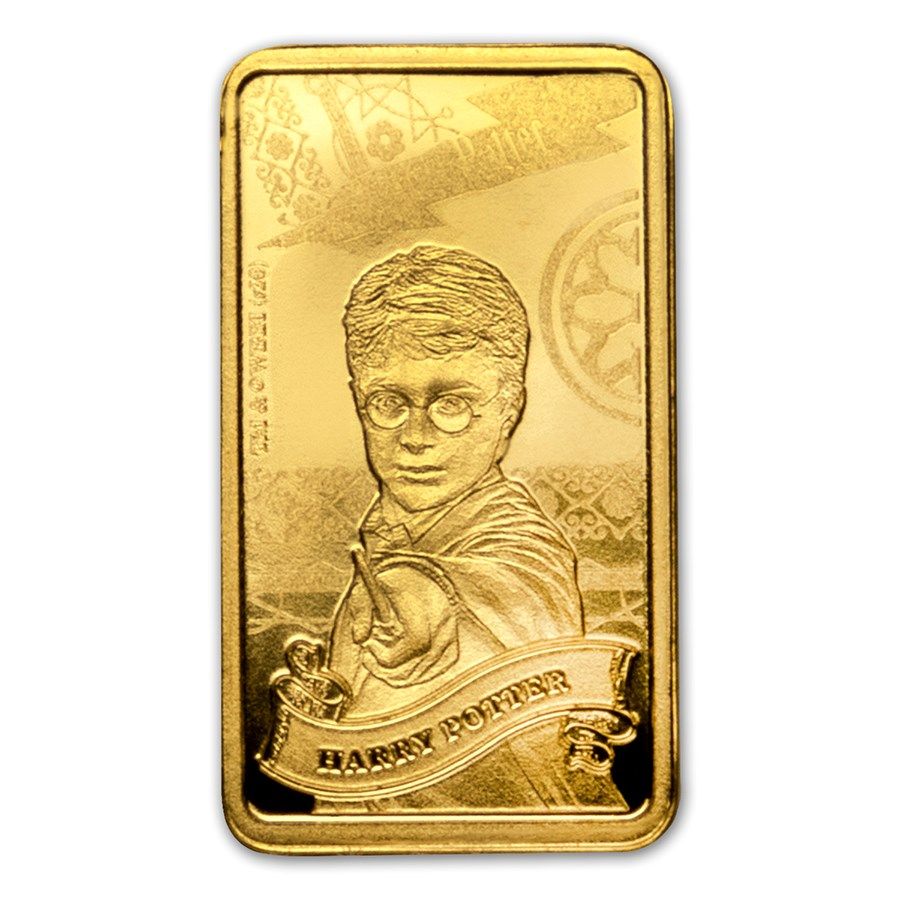 2020 Cook Islands 1/2 Gram Gold Harry Potter Ingot (Harry Potter)
