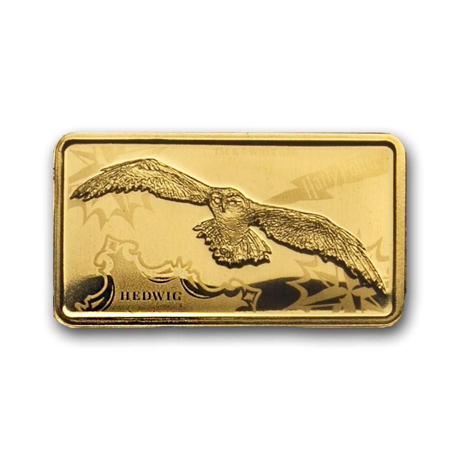 2020 Cook Islands 1/2 Gram Gold Harry Potter Ingot (Hedwig)