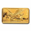 2020 Cook Islands 1/2 Gram Gold Harry Potter Ingot (Hippogriff)