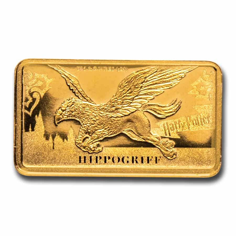 2020 Cook Islands 1/2 Gram Gold Harry Potter Ingot (Hippogriff)