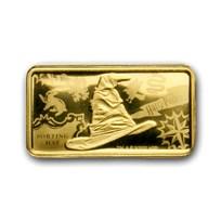 2020 Cook Islands 1/2 Gram Gold Harry Potter Ingot (Sorting Hat)