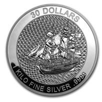 2020 Cook Islands 1 kilo Silver Bounty Coin