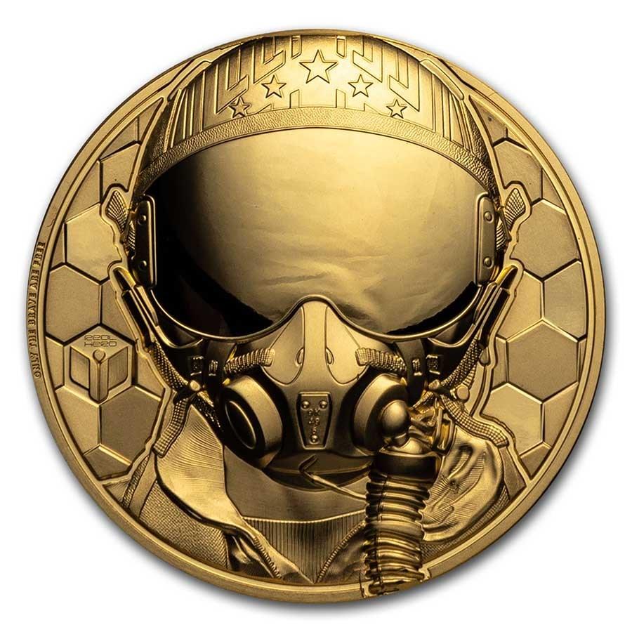 2020 Cook Islands 1 oz Gold Fighter Pilot Proof