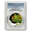 2020 Cook Islands 1 oz Silver Chameleon PR-70 PCGS First Day