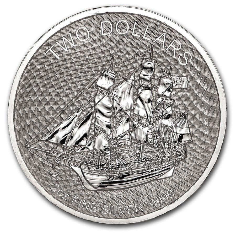 2020 Cook Islands Bounty 2 oz Silver BU