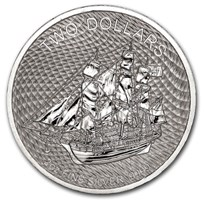 2020 Cook Islands 2 oz Silver Bounty Coin