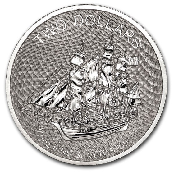 2020 Cook Islands 2 oz Silver Bounty Coin
