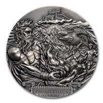 2020 Cook Islands 3 oz Silver Antique Titans: Prometheus