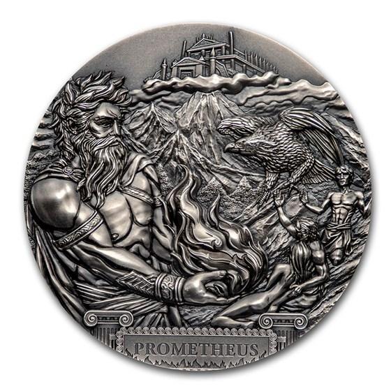 2020 Cook Islands 3 oz Silver Antique Titans: Prometheus