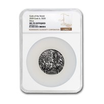 2020 Cook Islands 3 oz Silver Gods of the World: Shiva MS-70 NGC